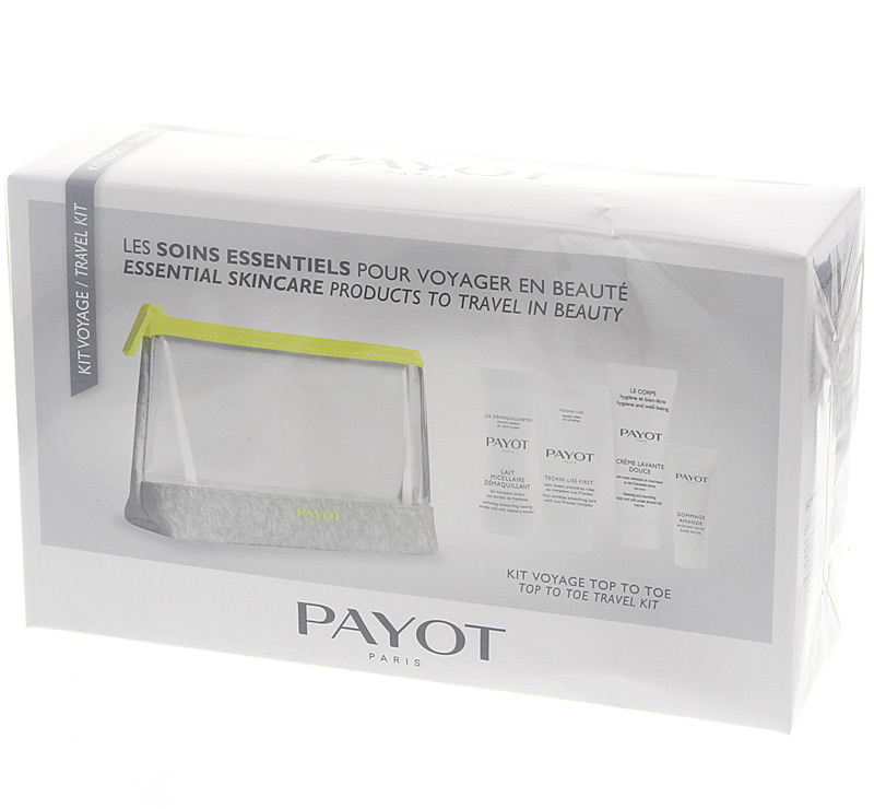 Payot Les Soins Essentiels Reiseset, Gesichtspflege, Körperpflege für unreine, trockene, reife Haut, 5-teilig
