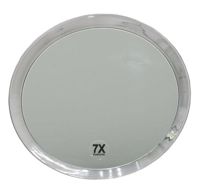 Runder 7-fach Kosmetik-Spiegel Ø 23cm, Kosmetex mit verschiedenen Vergrößerung und Saugnäpfen. Groß