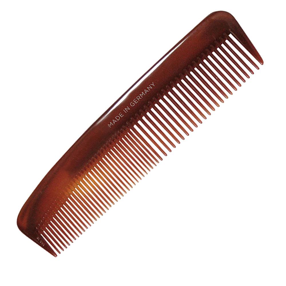 Kosmetex Nasskamm, Frisierkamm, Kamm braun 12.5 cm, für schonendes Haare kämmen, für Damen und Herren