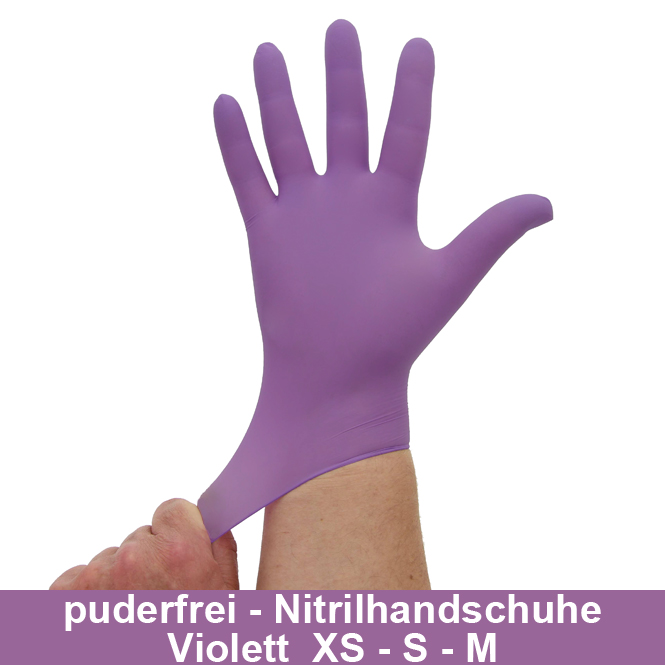 Nitrilhandschuhe Lila Violett, Einmalhandschuhe, Einweghandschuhe,100 Stück