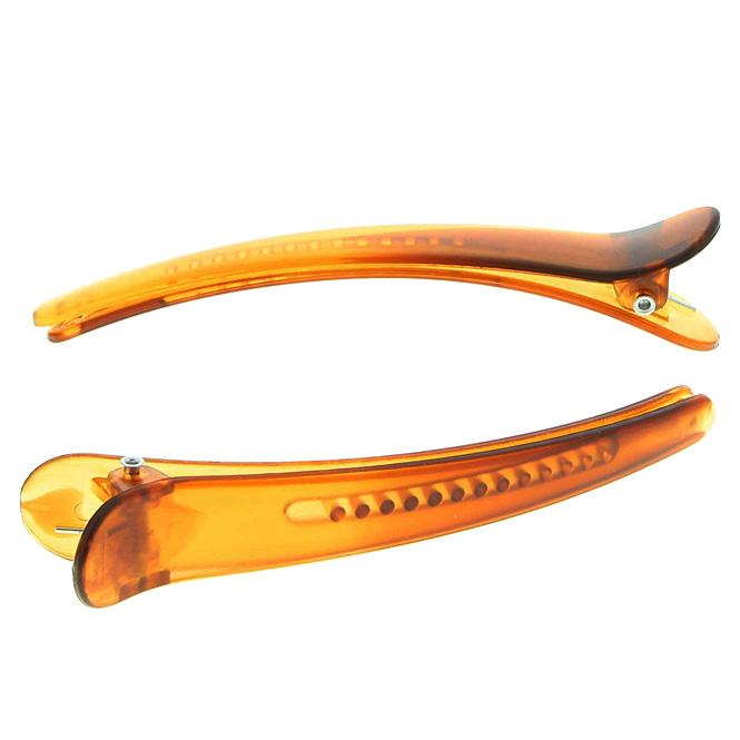 1 Paar Haarclipse, Haarklammern Bananenspangen Concordespieße lange gezahnte Ausführung Braun