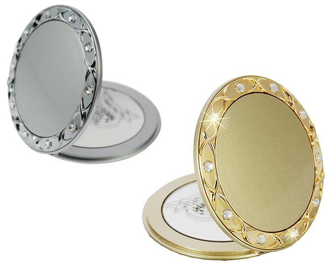 Taschen Kosmetik-Spiegel, Ø8,5m mit 10-fach Vergrößerung, Magnetverschluss, doppelt Kosmetex