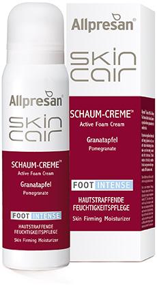 Allpresan SkinCair Granatapfel FOOT Intense Schaum-Creme Hautstraffende Pflege mit sanften Natur-Wirkstoffen,