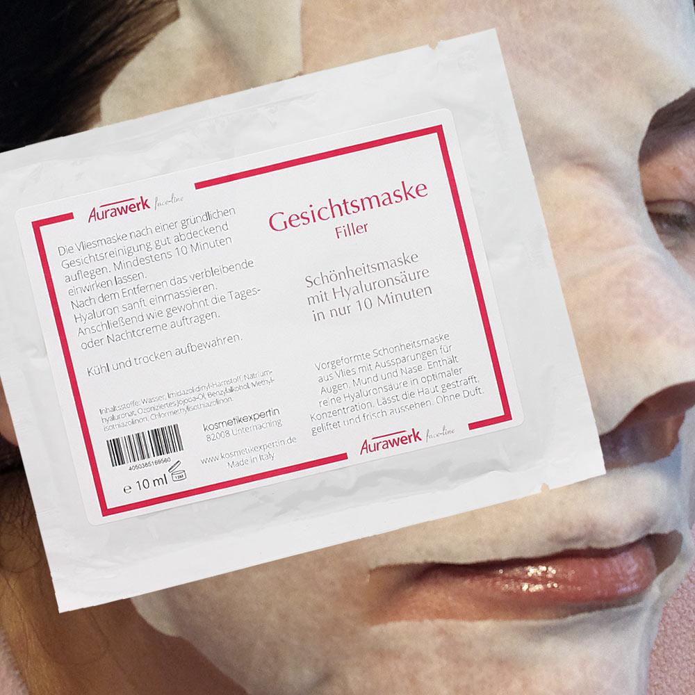 Aurawerk Schönheitsmaske mit Hyaluronsäure, 10ml mit Hyaluronsäure u.Vitamin E 1 Stück