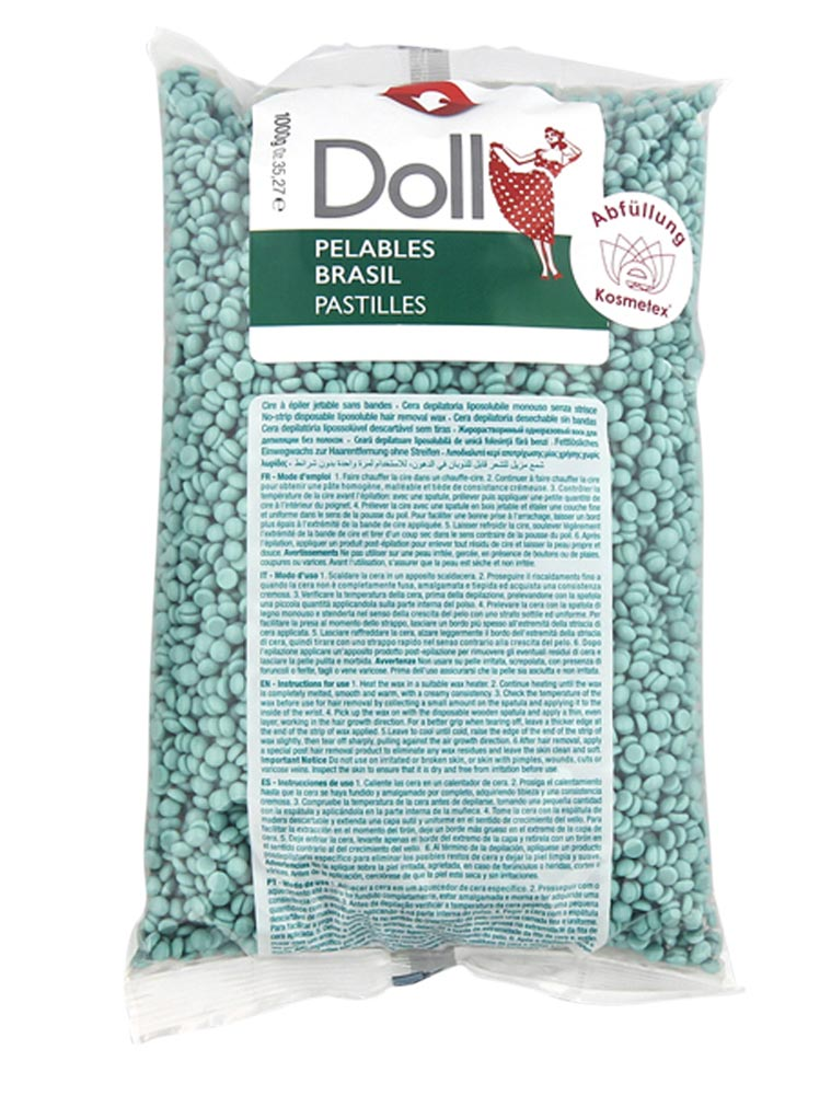 Kosmetex Aloe Vera Pelables Primo Wachs-Perlen Doll für flexibles Waxing ohne Vliesstreife, 800g