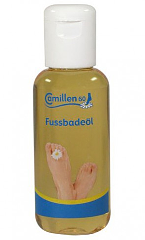 Fussbadeöl Camillen 60, auch für Diabetiker geeignet, Ölbad mit Kamillenöl, Avocadoöl, 100ml