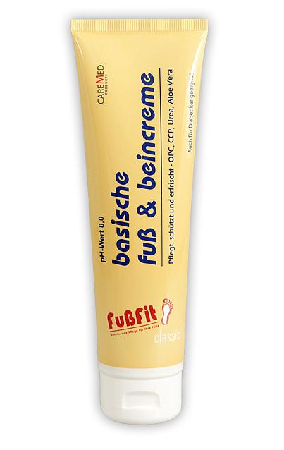 CareMed FußFit, basische Fußcreme PH 8,0 Beincreme Fusspflegecreme mit Urea, Korallenkalcium 50 ml