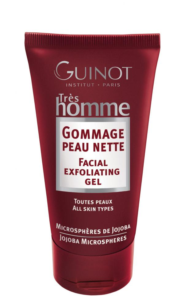 GUINOT Gommage Peau Nette, Gesichtspeeling Peelinggel für Männer, Très Homme, 75ml