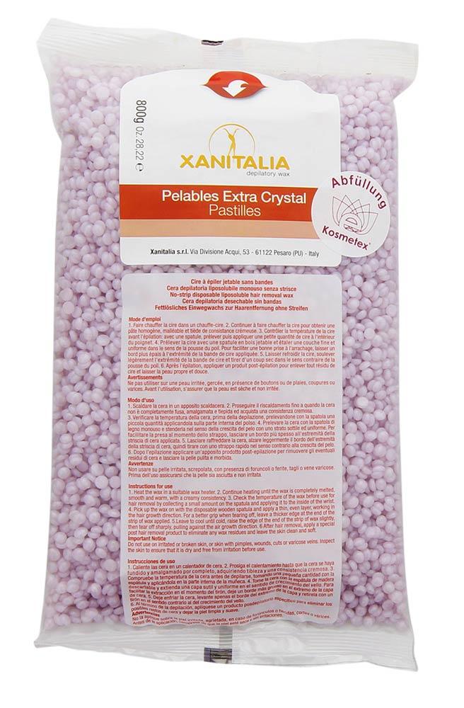 Xanitalia Malve Jasmin Pelables EXTRA Crystal Wachs-Perlen hypoallergen, Kosmetex Waxing ohne Vliesstreife, 800g