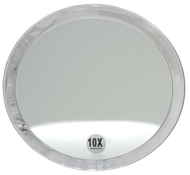 Runder 10-fach Kosmetik-Spiegel Ø 23cm, Kosmetex mit verschiedenen Vergrößerung und Saugnäpfen. 10-fach