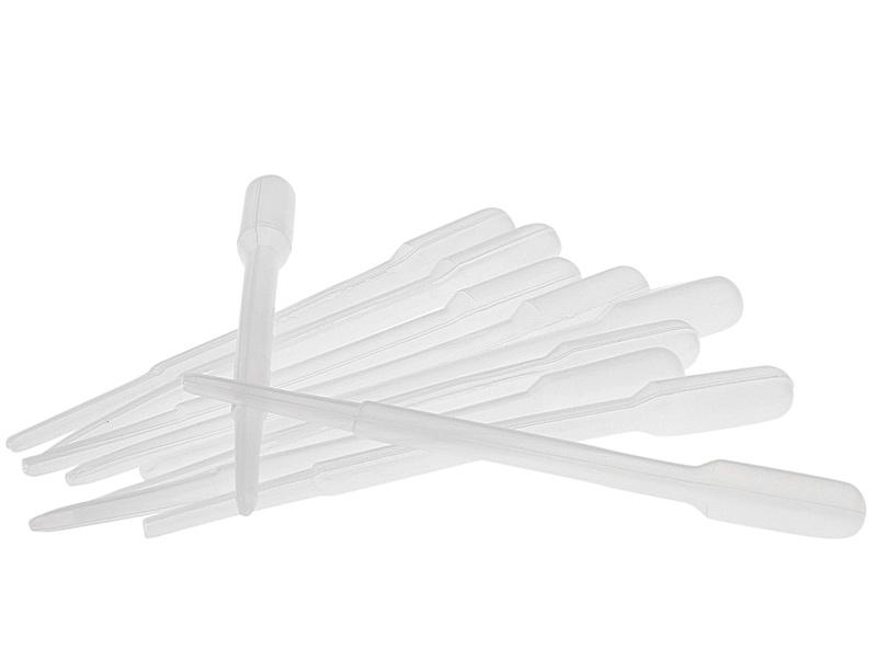 Kosmetex 10x Einweg-Pipetten, Pasteurpipetten, Futterpipette 2.4 ml Pipette für Laborbereich, Küche, Seidenmalerei, Basteln 10 Stück