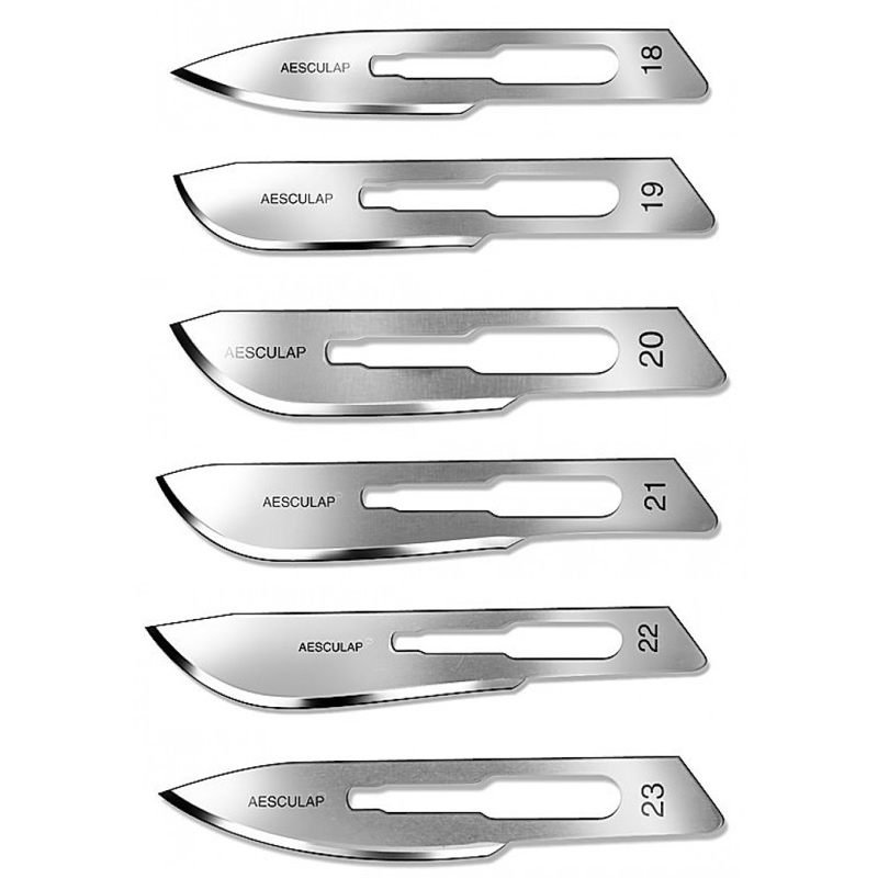 10x Klingen für Skalpell Halter 4, Aesculap Skalpellklingen Nr.4,