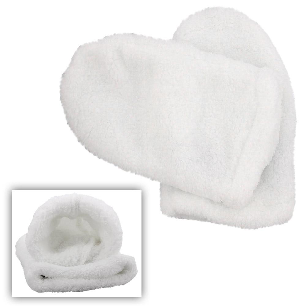 Weiche Mikrofaser Paraffin-Bad Handschuhe, Kosmetex Silver Kosmetikhandschuhe, Wärmehandschuhe, weiß 1 Paar Handschuh