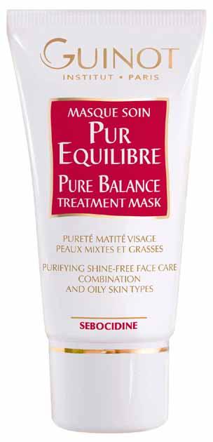 GUINOT Masque Pur Equilibre Pure Balance Mask Gesichtsmaske, Peeling für fettige Haut, Mischhaut, 50ml