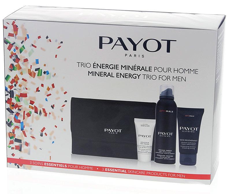 Payot Homme Trio Ènergie Minérale For Men 4-teiliges Männer Reiseset mit Tasche