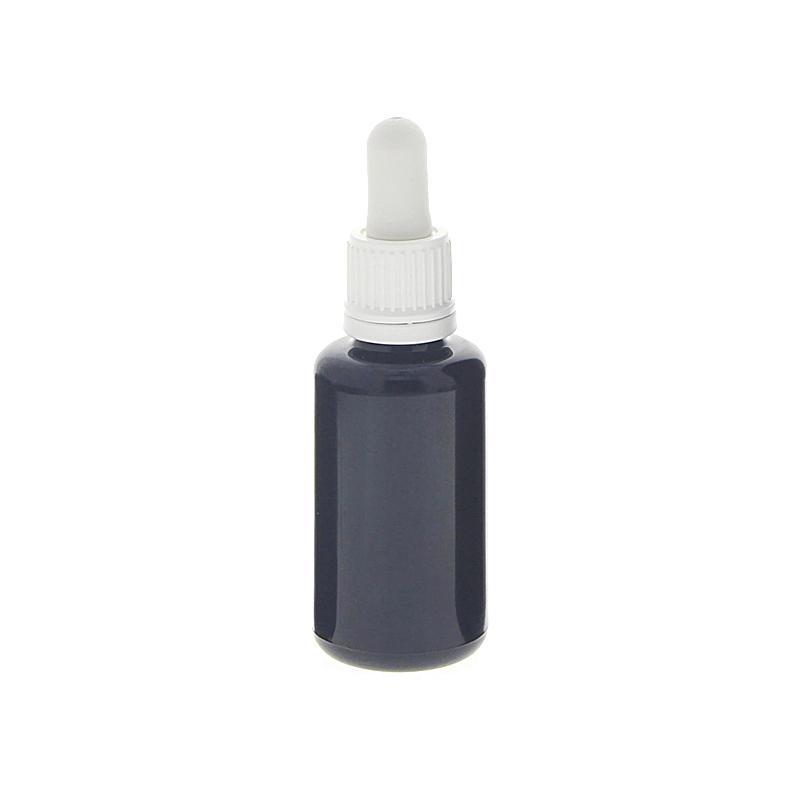 Miron Violett Glasflasche mit Pipette, leere violette Mironglas Flasche, Kosmetex Pipettenflasche mit Pipettenmontur. 30 ml