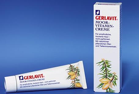 GERLAVIT Moor Vitamin Creme, Gesichtscreme Feuchtigkeitspflege für empfindliche, trockene Haut, 75ml