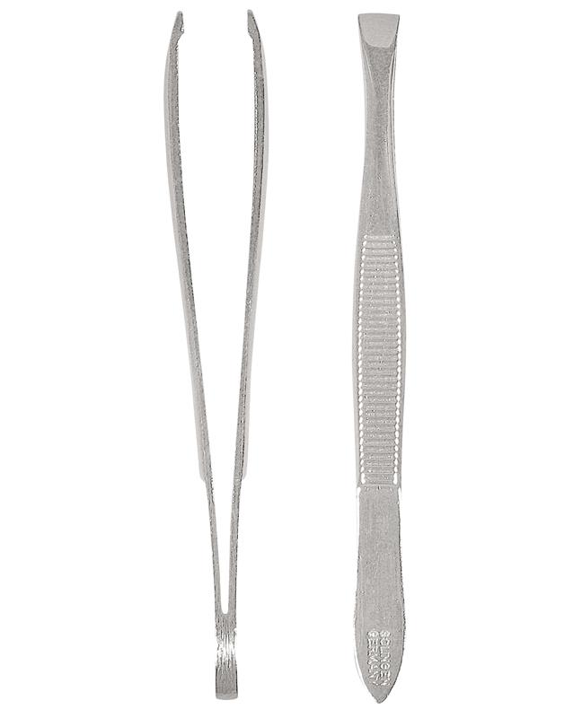 Solingen Qualitätspinzette, hochglänzend, präzise ausgeschliffene Greifkanten 5 mm breit
