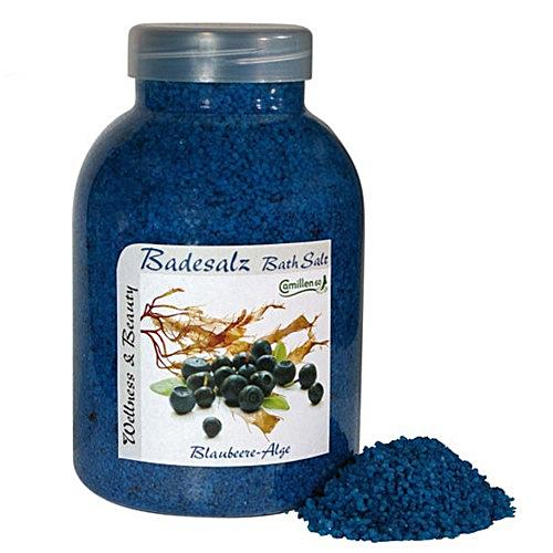 Badesalz Blaubeere, Alge, Camillen 60, Fussbad Badezusatz für die Füsse, mit Fruchtextrakt, 1350 g