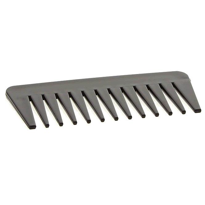 Afro Kamm Kosmetex, schwarz, grobe Zinken für voluminöses Haar. Locken- Nasshaarkamm