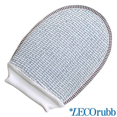 LECOrubb Peelinghandschuh, Massagehandschuh für sanftes, intensives Peeling und Massage, Handschuh Blau