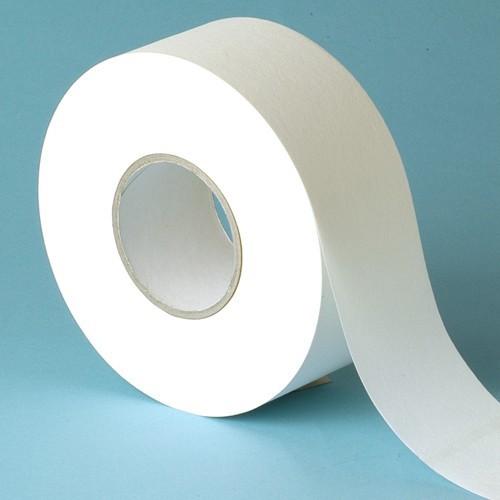 Vlies auf der Rolle für Wachs, weiß, 100 m x 7 cm, Kosmetex Vliesrolle abreißbare Enthaarungsstreifen, 1 Rolle