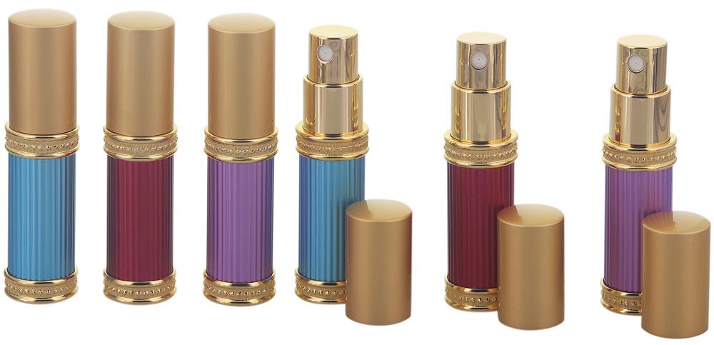 Orientalischer Flakon für Parfüm, Flasche mit Zerstäuber, für Parfüm, Colognes, leer, mini, Kosmetex, 6ml