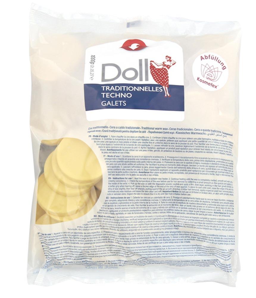 Kosmetex Premium Doll Argan Wachs-Scheiben, Warmwachs-Taler, Wachstaler ohne Vliesstreifen, 1kg