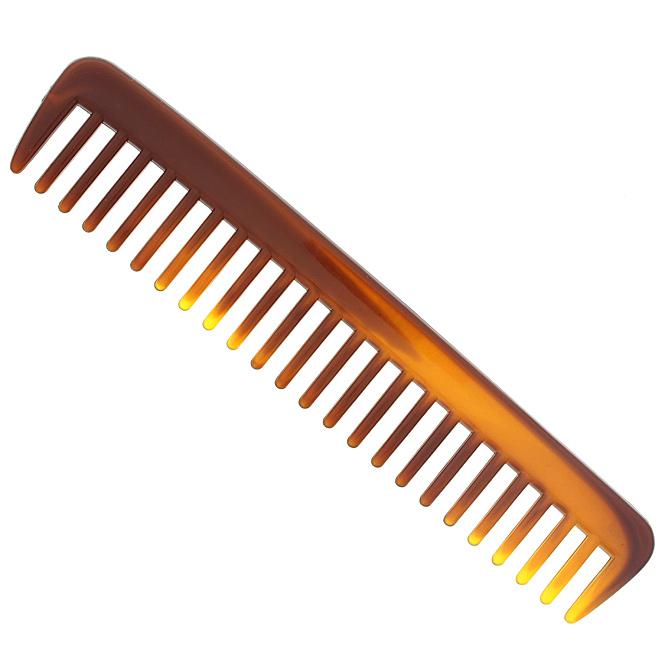 Locken-Kamm 18cm, grobe Zinken, Afrokamm für voluminöses Haar. Nasshaar-kamm