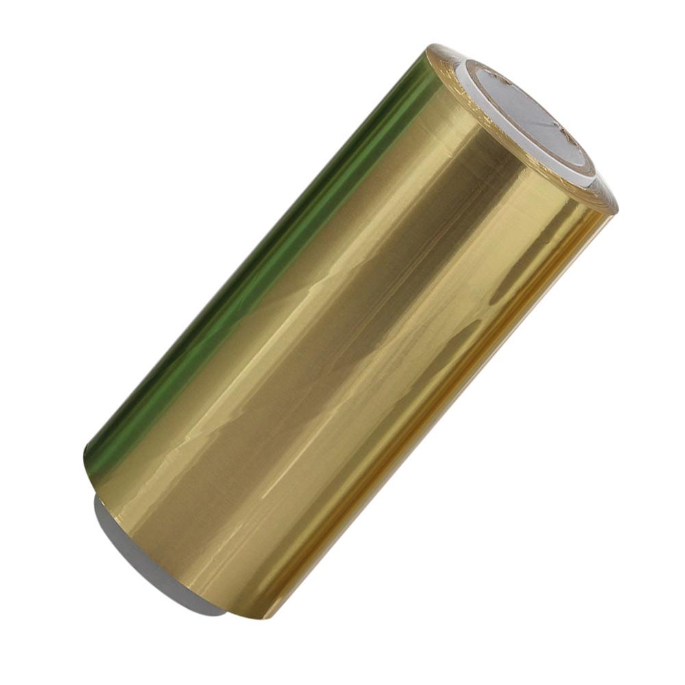 Gold Friseur Premium Alufolie 12 cm x 250 meter, Strähnenfolie Starke Kosmetex Alu Folie mit 15 Micron Gold