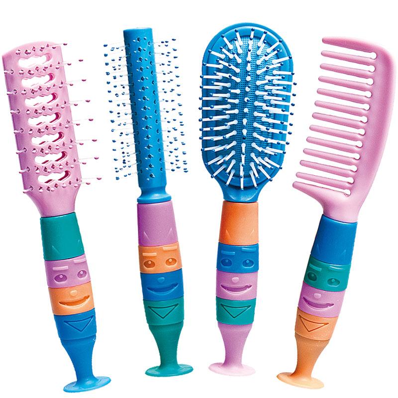 Kinder Haarbürste, Kosmetex Haarkamm, Kinderkamm 4er Set