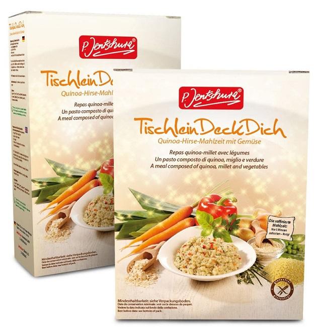 P. Jentschura TischleinDeckDich basische Quinoa-Hirse-Mahlzeit mit Gemüse