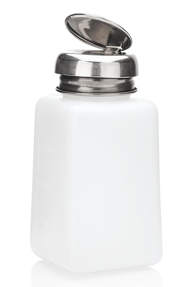 Pump Dispenser m. Metall-Pumper zum dosierten Auftragen, Reiniger Nagellackentferner, Cleaner, Kosmetex Pumpspender, 200 ml