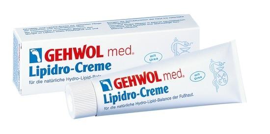 GEHWOL med. Lipidro Creme, Fusscreme mit Urea, bei Hornhaut, trockener Haut, 75 ml