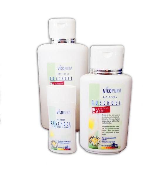 VICOPURA Duschgel, basisch pH 7,4, basische Reinigung für den Körper, ohne Konservierungsmittel