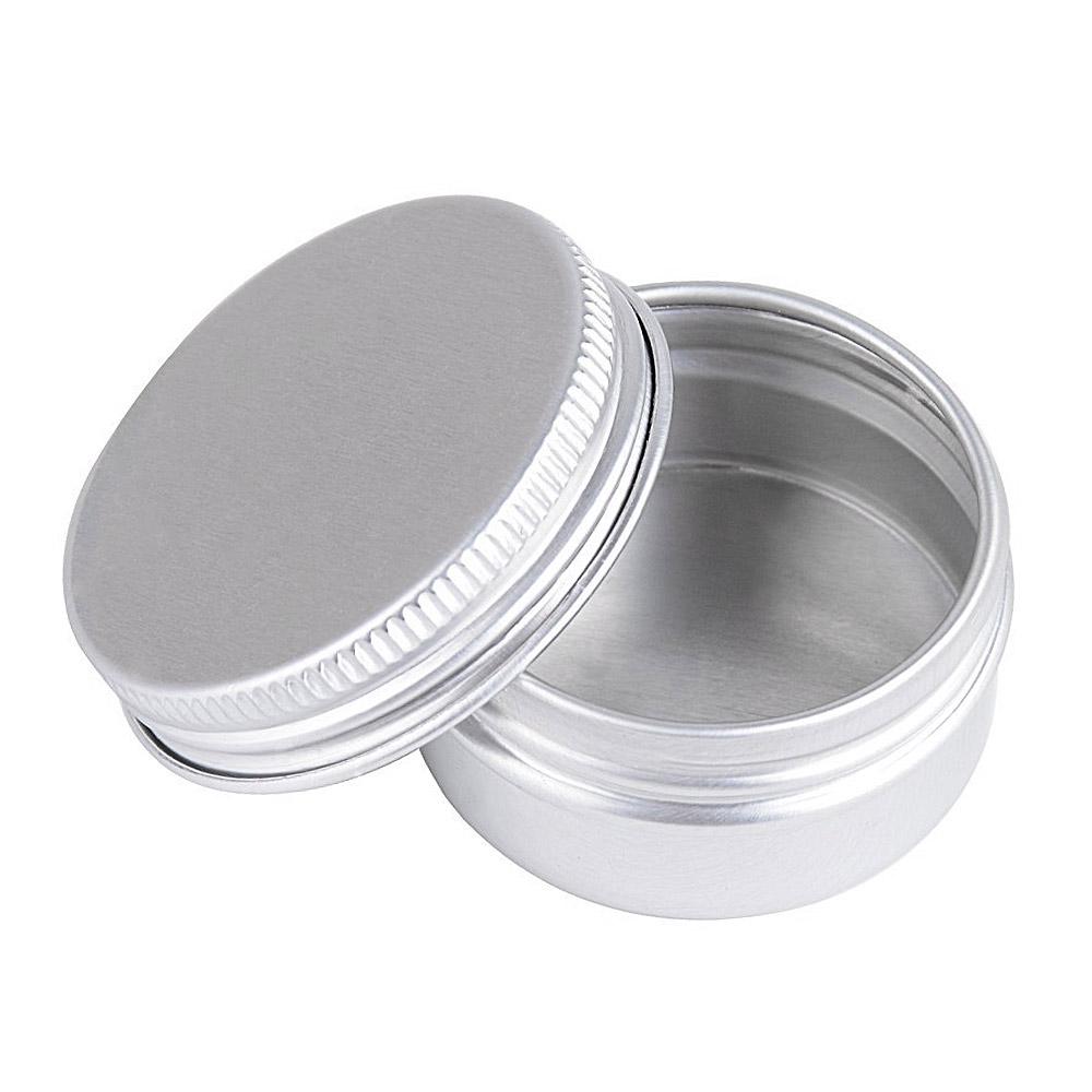 Schraubdose 15ml, Alu-Tiegel aus Aluminium, m. Schraub-Deckel, leer, Kosmetex Aludose, Kosmetik-Dose, Cremedose 3 Stück