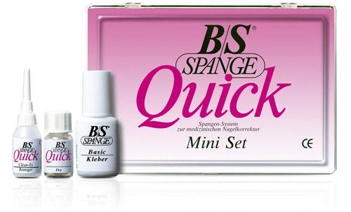 B/S-Spange Quick Mini-Set inkl. DVD-Schulung, Anleitung zur Behandlung eingewachsener Nägel