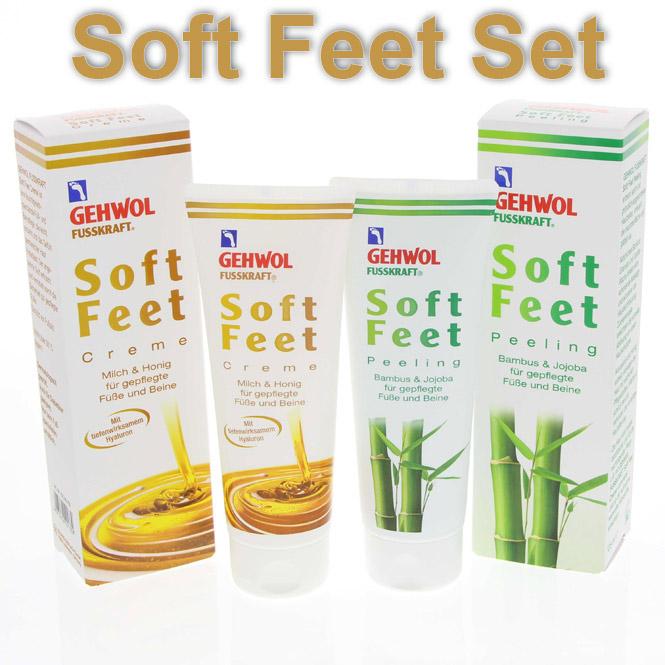 GEHWOL Set, Fusskraft Soft Feet Fußcreme + Peeling Sparpack
