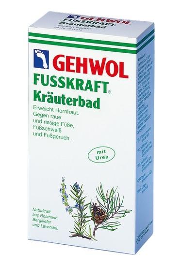 GEHWOL Fusskraft Kräuterbad, Fußbad raue, rissige Füsse, Badekonzentrat, 250 g