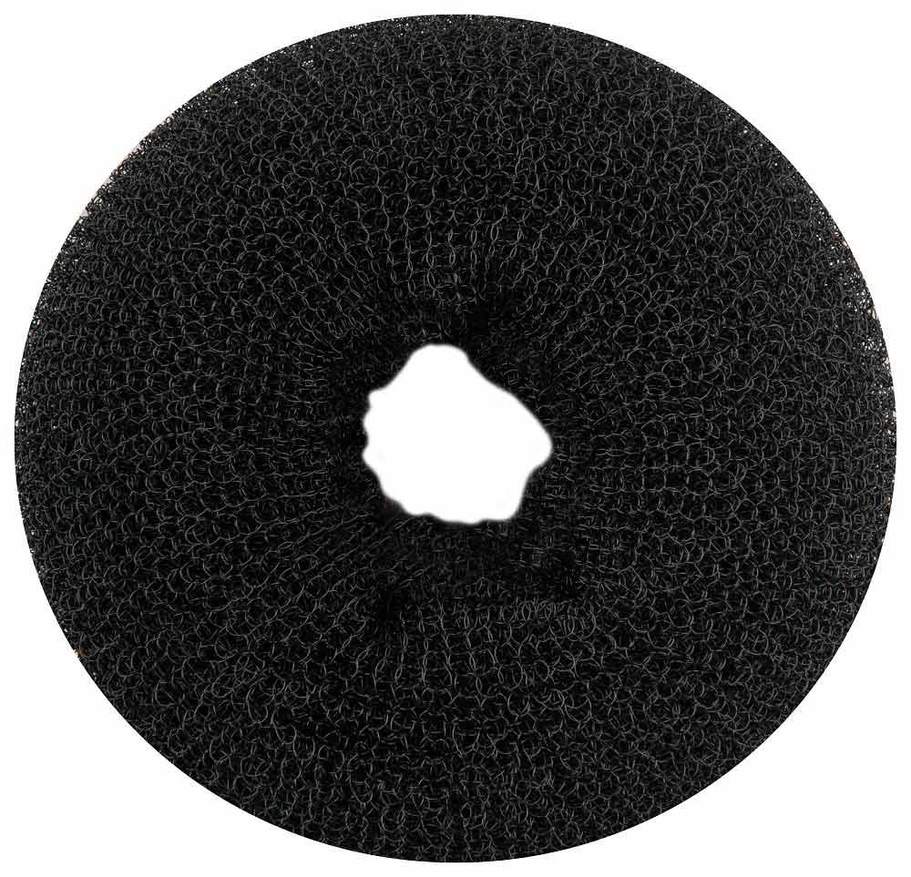 """Haargummi, Donut-Form, Krapfenform, """"Dutt"""" Haarring aus Frottee, ohne Metall 1× schwarz groß"""