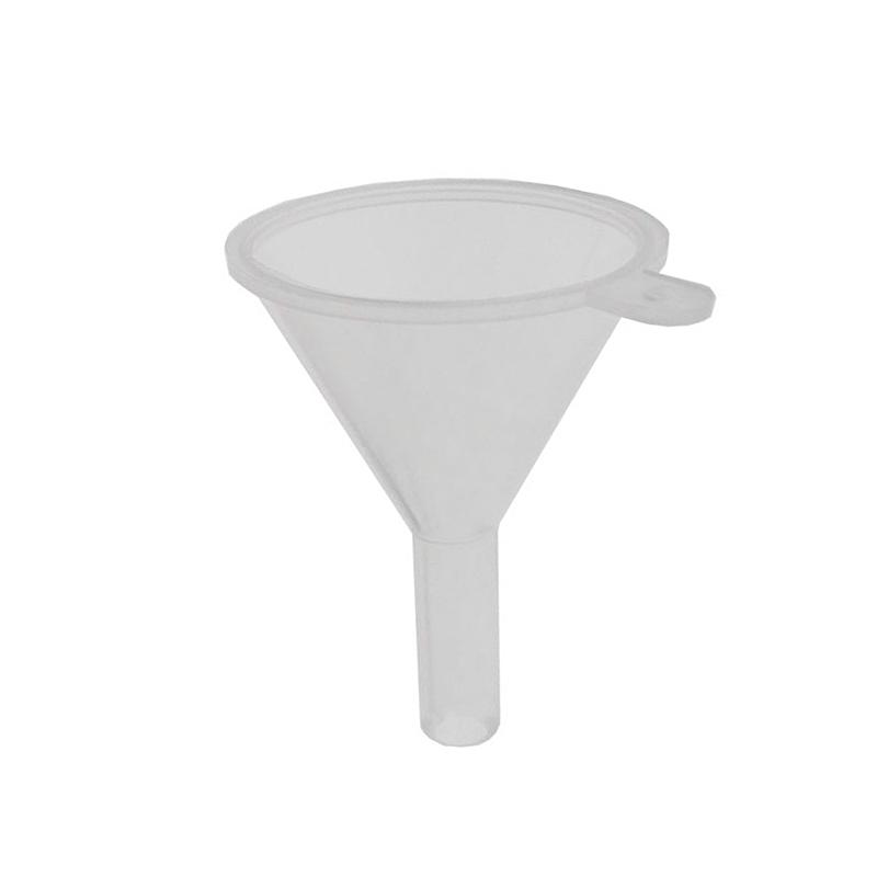 Kleiner Parfümtrichter Kosmetex, Kunststoff transparent Trichter H: 4 cm zum Umfüllen Transparent