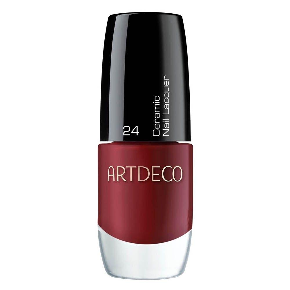 Artdeco Nagellack 24 deep red, Dunkelrot Ceramic Nail Lacquer, 6ml