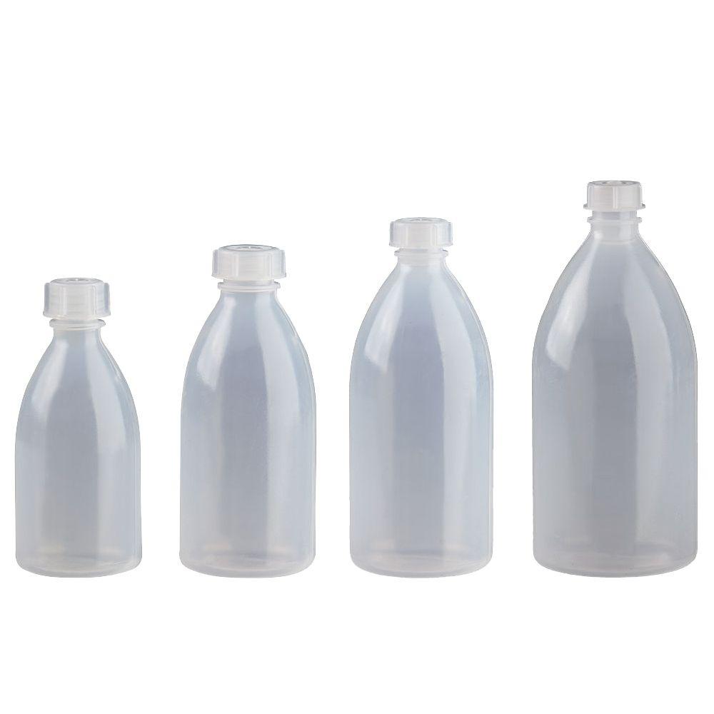 Kosmetex Enghals Laborflaschen mit Schraubverschluss Laborqualität für Flüssigkeiten, Paste, Pulver, Granulat