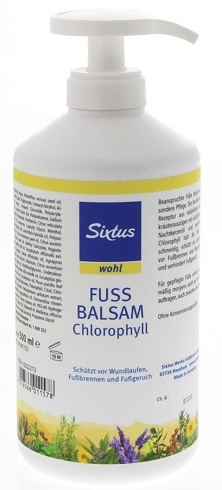 Sixtus Fussbalsam Chlorophyll mit Pumpspender 500ml