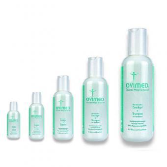 Ovimed Bio-basisches Duschgel und Shampoo mit Panthenol, für Kopfhaut, Gesicht und Körper