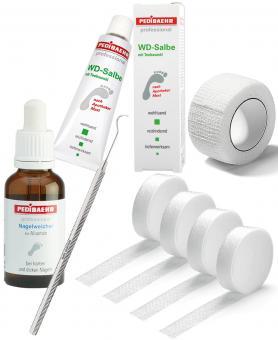 Kosmetex Nagelfalz Set für eingewachsene Nägel, PediBaehr Produkte zum tamponieren vom Zehen-Nagel