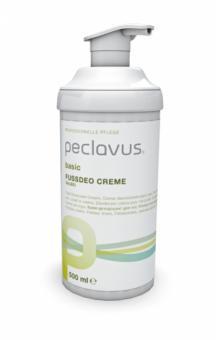 Peclavus Basic Fußdeo Creme, Fußcreme gegen Fußgeruch, mit Salbei 500 ml
