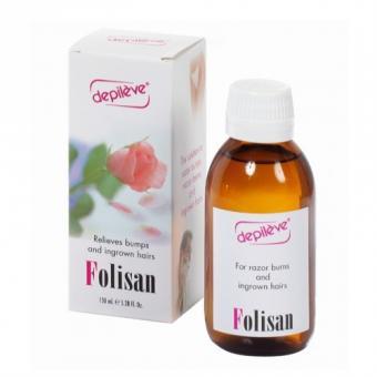 Depileve Folisan, Gesichts- und Körperlotion, gegen Rasurbrand, eingewachsene Haare, 150ml
