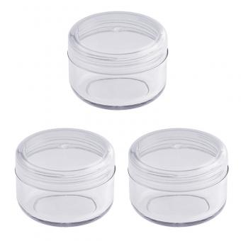 Leere klare Acryl Dose 6 ml, kleine Kosmetex Kosmetikdose, Plastikdose, Nailart, Cremedose mit Schraubdeckel