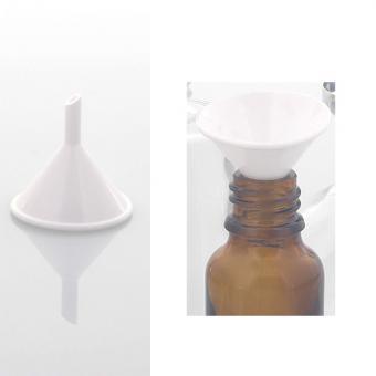 Parfümtrichter Kosmetex, kleiner Trichter 3.2 cm zum Umfüllen von Parfums, Essenzen, Puppentrichter, Kunststoff Weiß 3cm